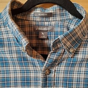 Eddie Bauer Relaxed Fit Button Up Shirt